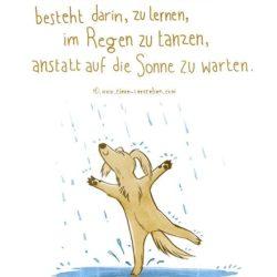 Die Illustration passt zu uns! Denn genau das tun unsere Strassenhunde!